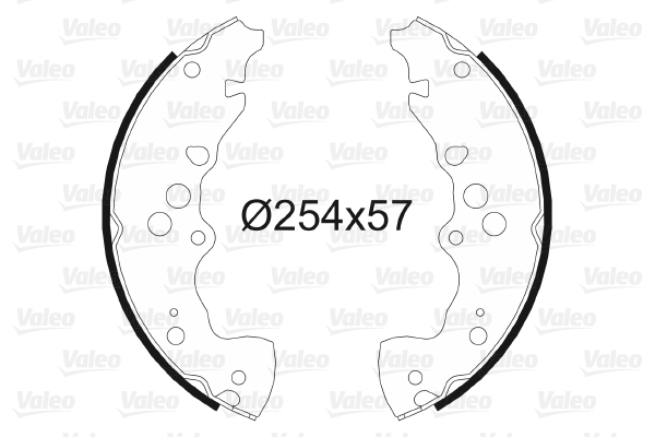 kit de frein arrière simple ou prémonté VALEO 564062 (X1)