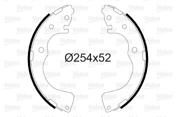 kit de frein arrière simple ou prémonté VALEO 564092 (X1)
