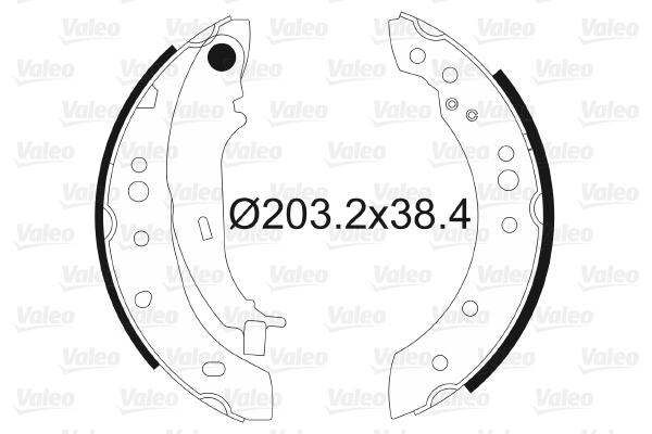 kit de frein arrière simple ou prémonté VALEO 564097 (X1)