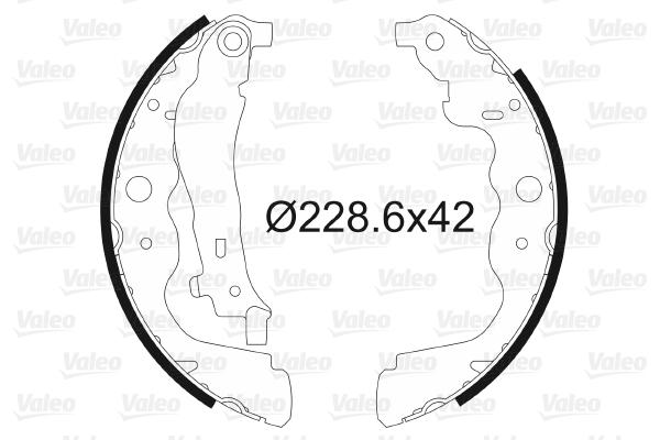 kit de frein arrière simple ou prémonté VALEO 564104 (X1)