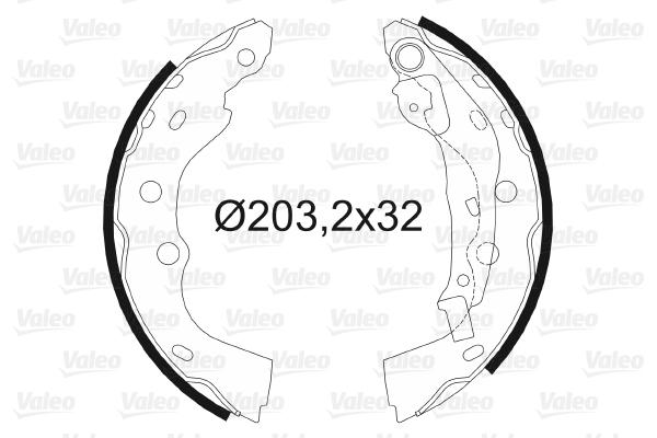 kit de frein arrière simple ou prémonté VALEO 564106 (X1)
