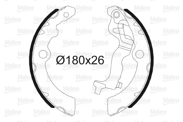 kit de frein arrière simple ou prémonté VALEO 564129 (X1)