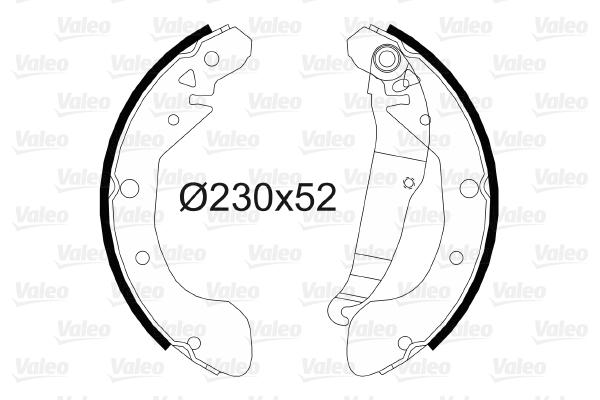 kit de frein arrière simple ou prémonté VALEO 564153 (X1)