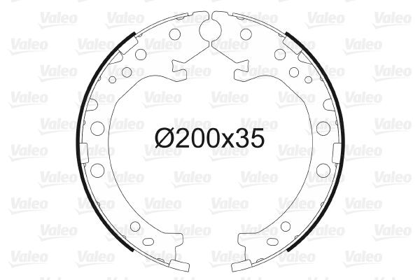 Jeu de mâchoires de frein de frein à main VALEO 564154 (X1)