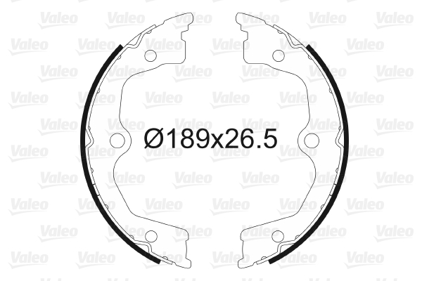 Jeu de mâchoires de frein de frein à main VALEO 564165 (X1)