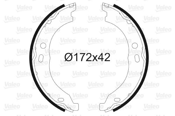Jeu de mâchoires de frein de frein à main VALEO 564171 (X1)