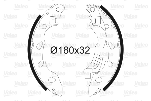 kit de frein arrière simple ou prémonté VALEO 564185 (X1)