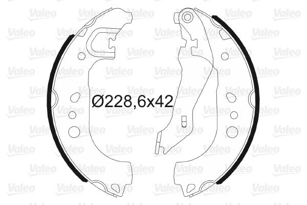 kit de frein arrière simple ou prémonté VALEO 564192 (X1)