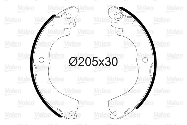 kit de frein arrière simple ou prémonté VALEO 564202 (X1)