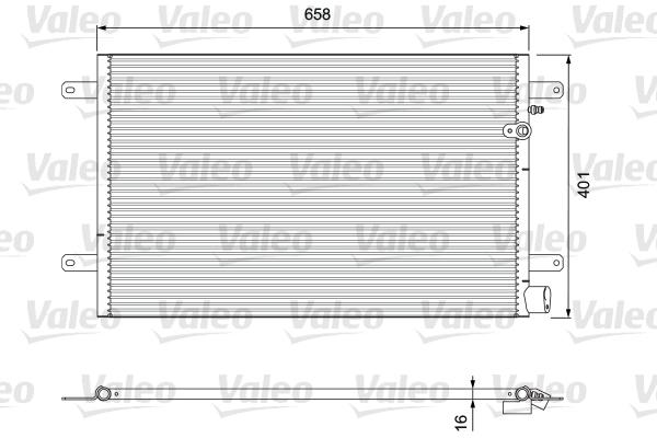 Condenseur / Radiateur de climatisation VALEO 814004 (X1)