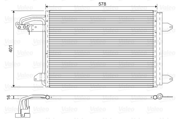 Condenseur / Radiateur de climatisation VALEO 817777 (X1)