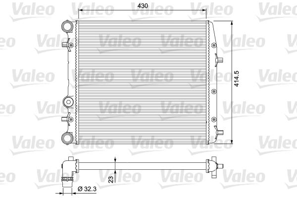 Radiateur de refroidissement VALEO 232863 (X1)