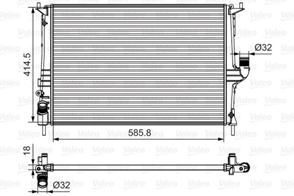 Radiateur de refroidissement VALEO 700801 (X1)