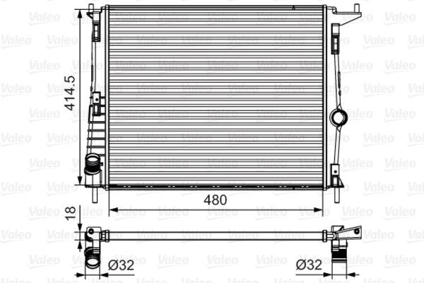 Radiateur de refroidissement VALEO 700802 (X1)
