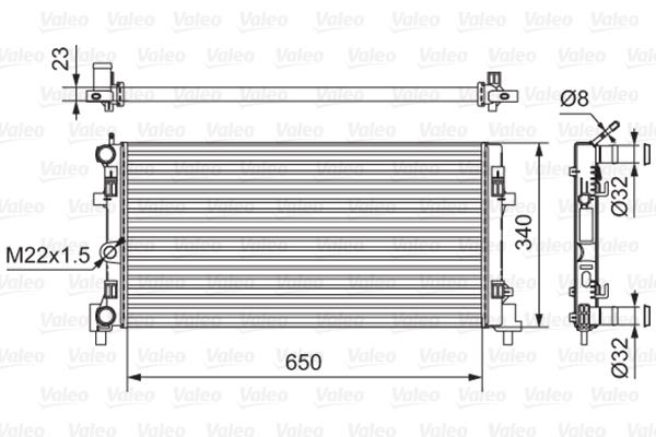 Radiateur de refroidissement VALEO 701522 (X1)