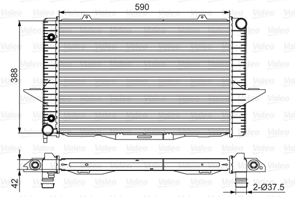 Radiateur de refroidissement VALEO 701532 (X1)
