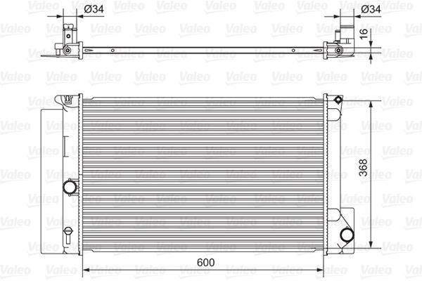 Radiateur de refroidissement VALEO 701538 (X1)