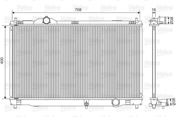 Radiateur de refroidissement VALEO 701564 (X1)