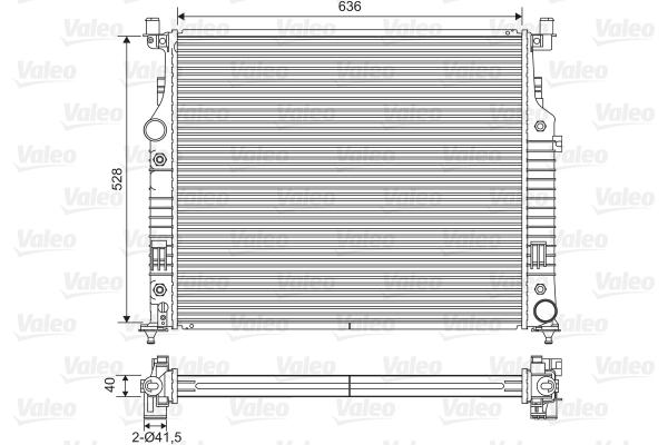 Radiateur de refroidissement VALEO 701569 (X1)