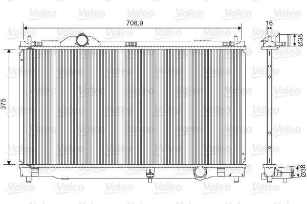 Radiateur de refroidissement VALEO 701572 (X1)
