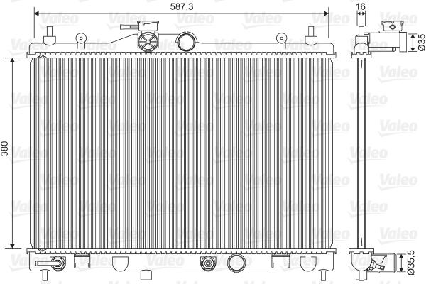 Radiateur de refroidissement VALEO 701573 (X1)