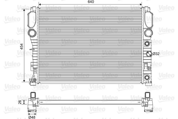 Radiateur de refroidissement VALEO 701575 (X1)
