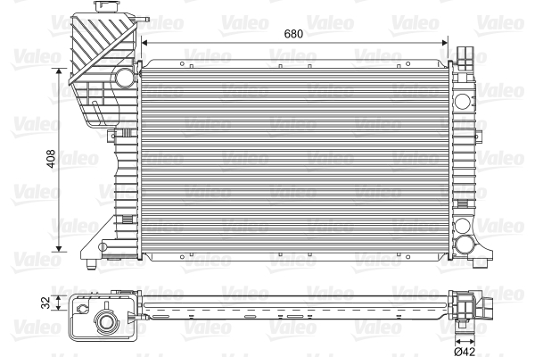 Radiateur de refroidissement VALEO 701589 (X1)