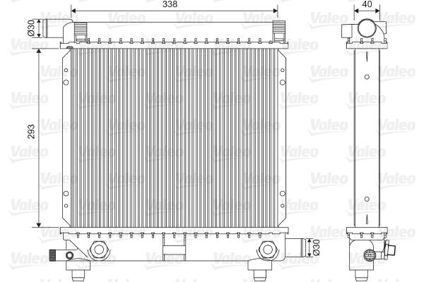 Radiateur de refroidissement VALEO 701590 (X1)
