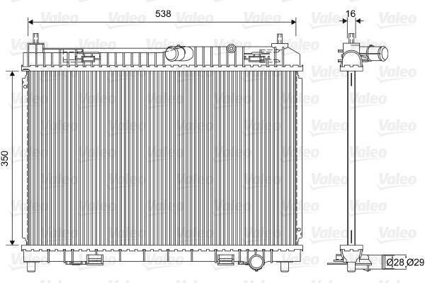 Radiateur de refroidissement VALEO 701603 (X1)