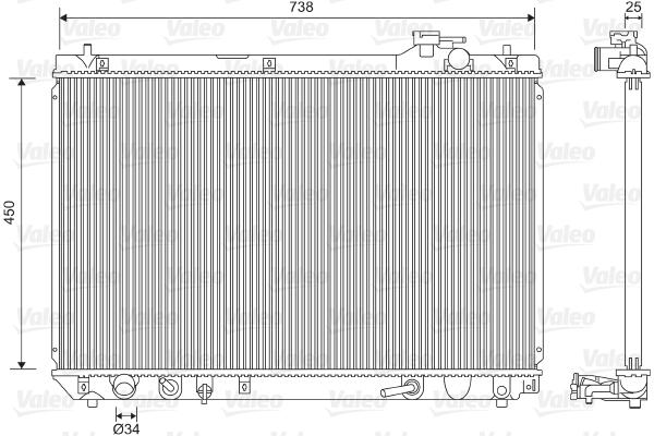 Radiateur de refroidissement VALEO 701608 (X1)