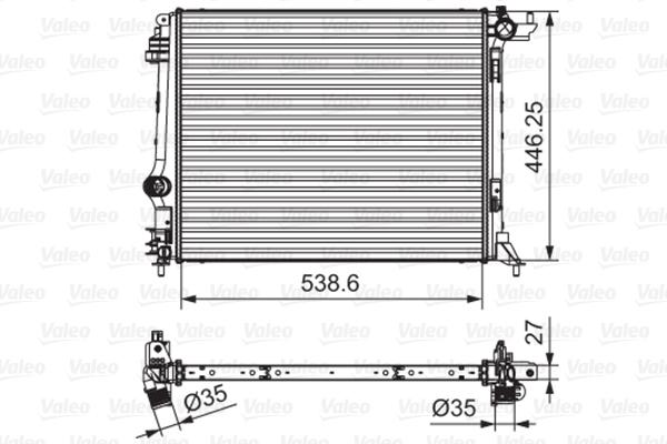 Radiateur de refroidissement VALEO 701662 (X1)