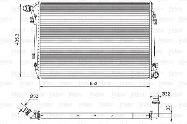 Radiateur de refroidissement VALEO 701664 (X1)