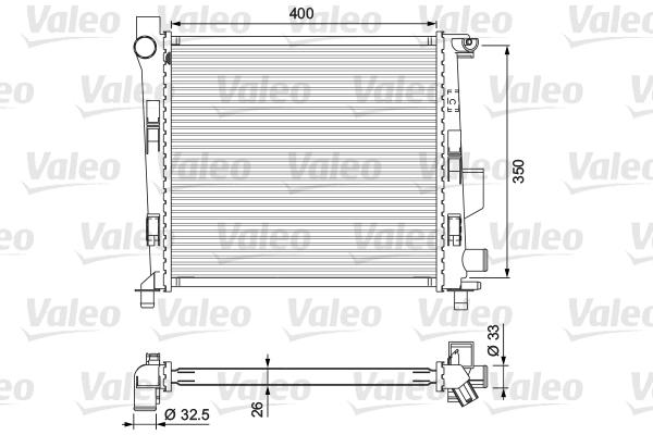 Radiateur de refroidissement VALEO 701724 (X1)