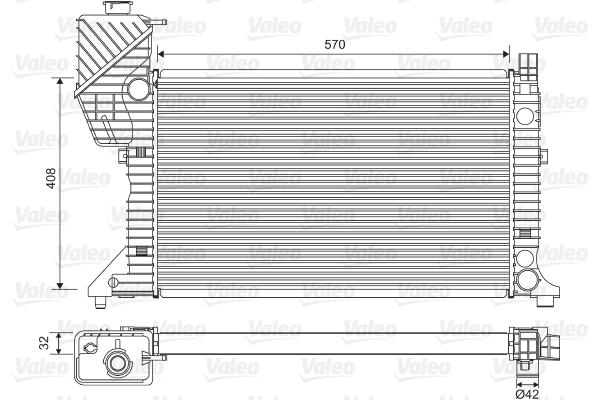 Radiateur de refroidissement VALEO 730229 (X1)