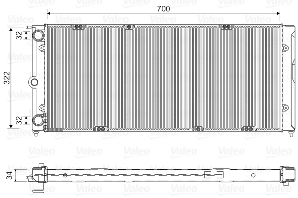Radiateur de refroidissement VALEO 730485 (X1)