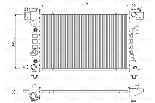 Radiateur de refroidissement VALEO 731578 (X1)