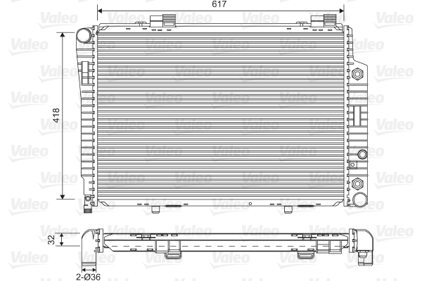 Radiateur de refroidissement VALEO 731805 (X1)