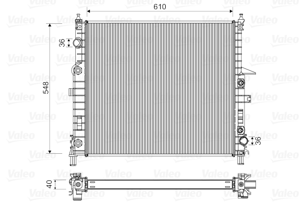 Radiateur de refroidissement VALEO 732315 (X1)