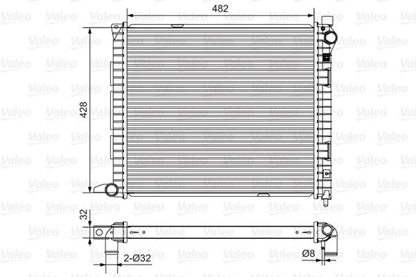 Radiateur de refroidissement VALEO 732400 (X1)