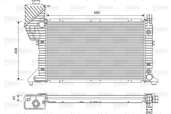 Radiateur de refroidissement VALEO 732472 (X1)