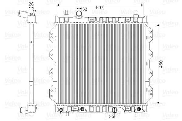 Radiateur de refroidissement VALEO 732704 (X1)