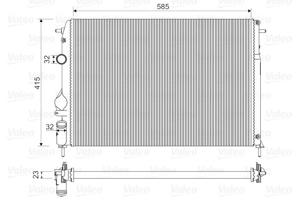 Radiateur de refroidissement VALEO 732866 (X1)