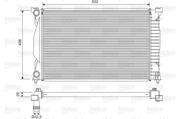 Radiateur de refroidissement VALEO 734269 (X1)