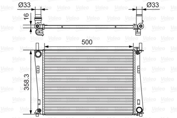 Radiateur de refroidissement VALEO 734273 (X1)