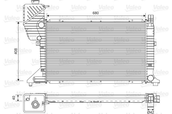 Radiateur de refroidissement VALEO 734689 (X1)
