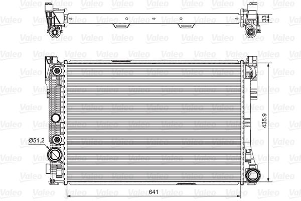Radiateur de refroidissement VALEO 735291 (X1)