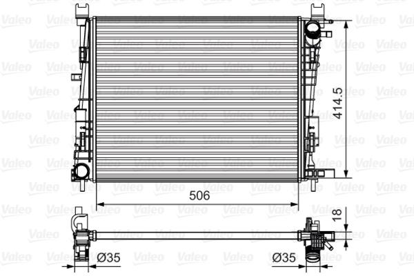 Radiateur de refroidissement VALEO 735634 (X1)