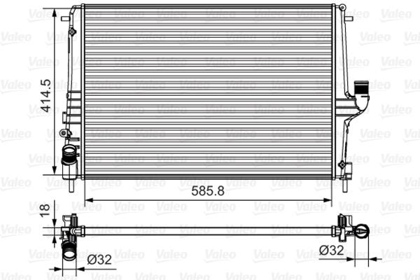Radiateur de refroidissement VALEO 735635 (X1)