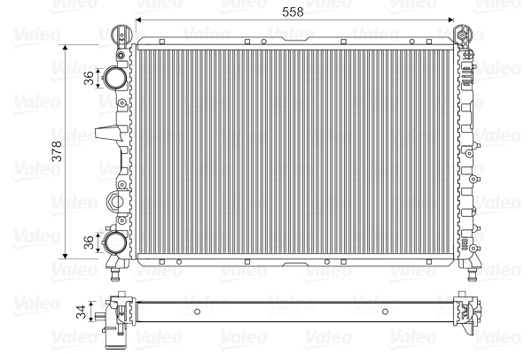 Radiateur de refroidissement VALEO 811073 (X1)