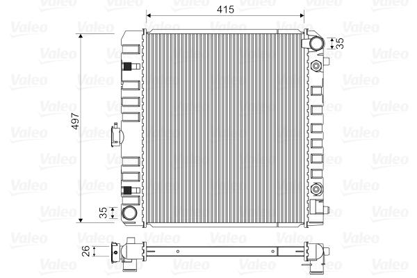 Radiateur de refroidissement VALEO 883778 (X1)